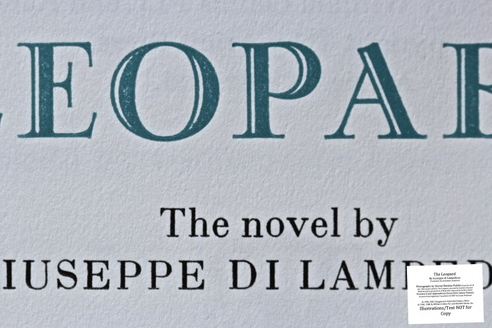 The Leopard, Arion Press, Macro of Title Page