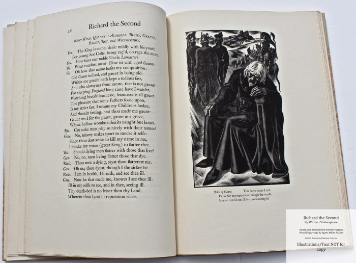 Richard the Second, Limited Editions Club, Sample Illustration #2 with Text