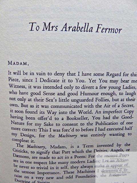 The Rape of the Lock, The Folio Society, Sample Text #1