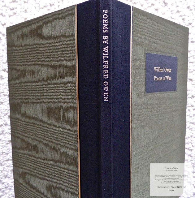 Poems of War, The Folio Society, Spine and Covers