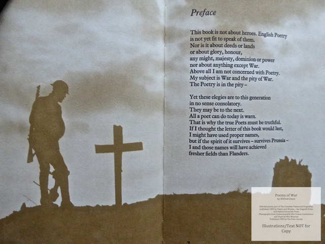 Poems of War, The Folio Society, Sample Illustration #2 with Text