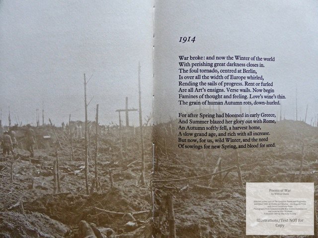 Poems of War, The Folio Society, Sample Illustration #3 with Text