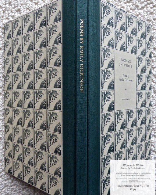 Woman In White, Poems by Emily Dickinson, The Folio Society, Spine and Covers