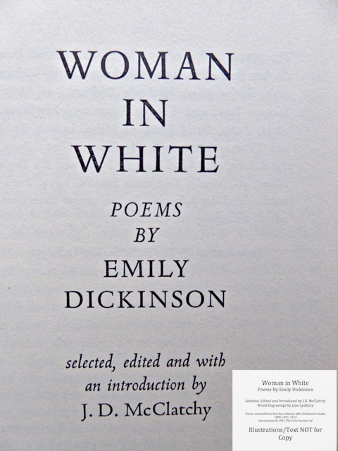 Woman In White, Poems by Emily Dickinson, The Folio Society, Title Page