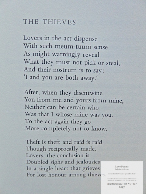 Love Poems by Robert Graves, The Folio Society, Sample Text #3