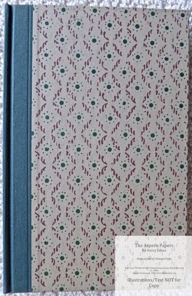 The Aspern Papers, The Folio Society, Front Cover