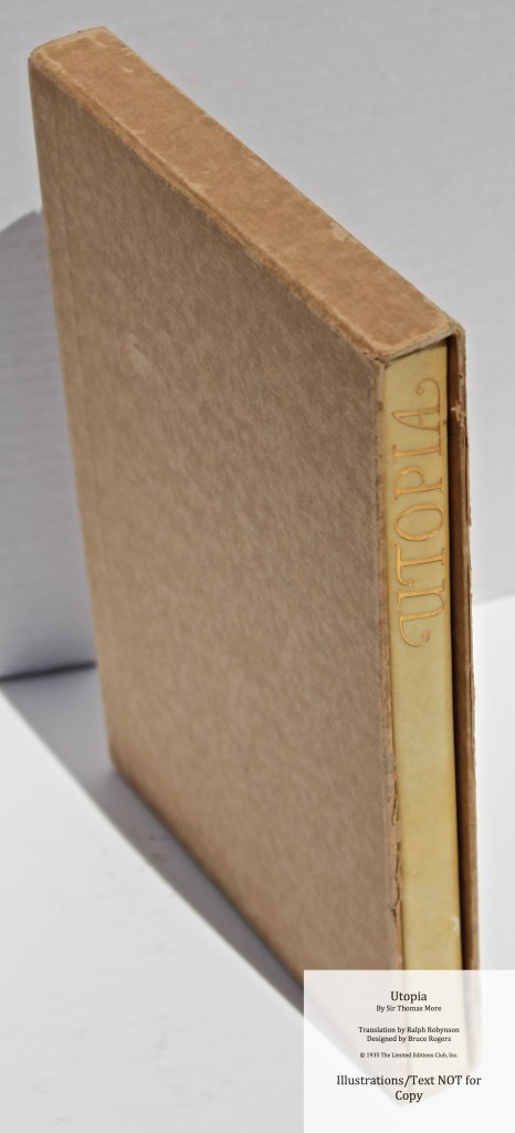 Utopia, Limited Editions Club, Book in Slipcase