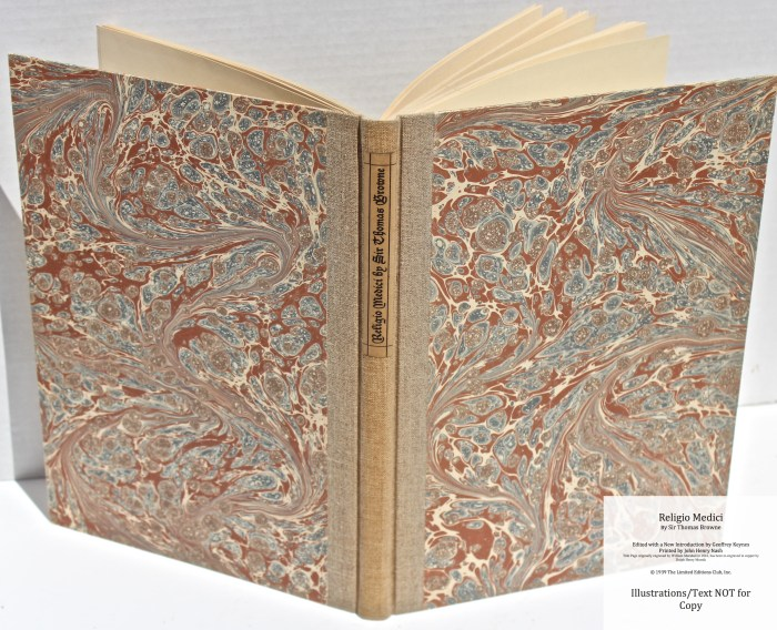 Religio Medici, Limited Editions Club, Spine and Covers