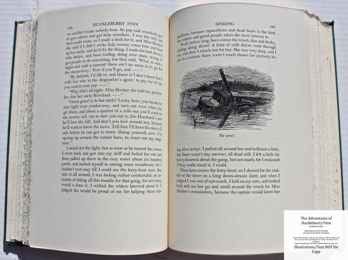 The Adventures of Huckleberry Finn, Limited Editions Club (1933), Sample Illustration #4 with Text