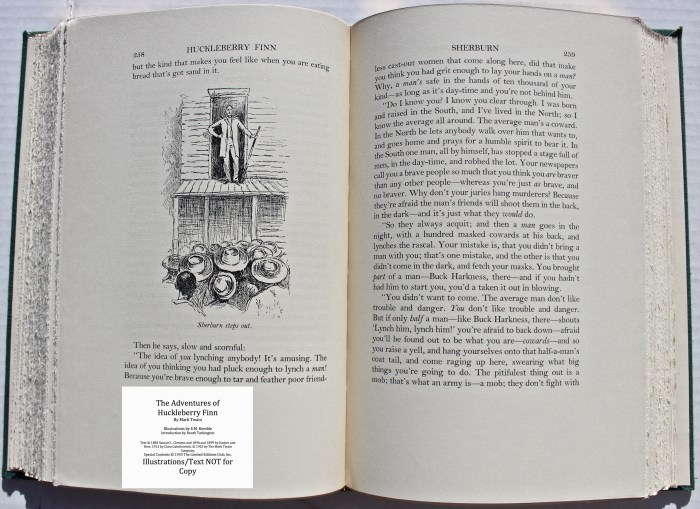 The Adventures of Huckleberry Finn, Limited Editions Club (1933), Sample Illustration #5 with Text