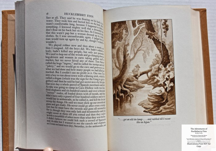 The Adventures of Huckleberry Finn, Limited Editions Club (1942), Sample Illustration #3 with Text