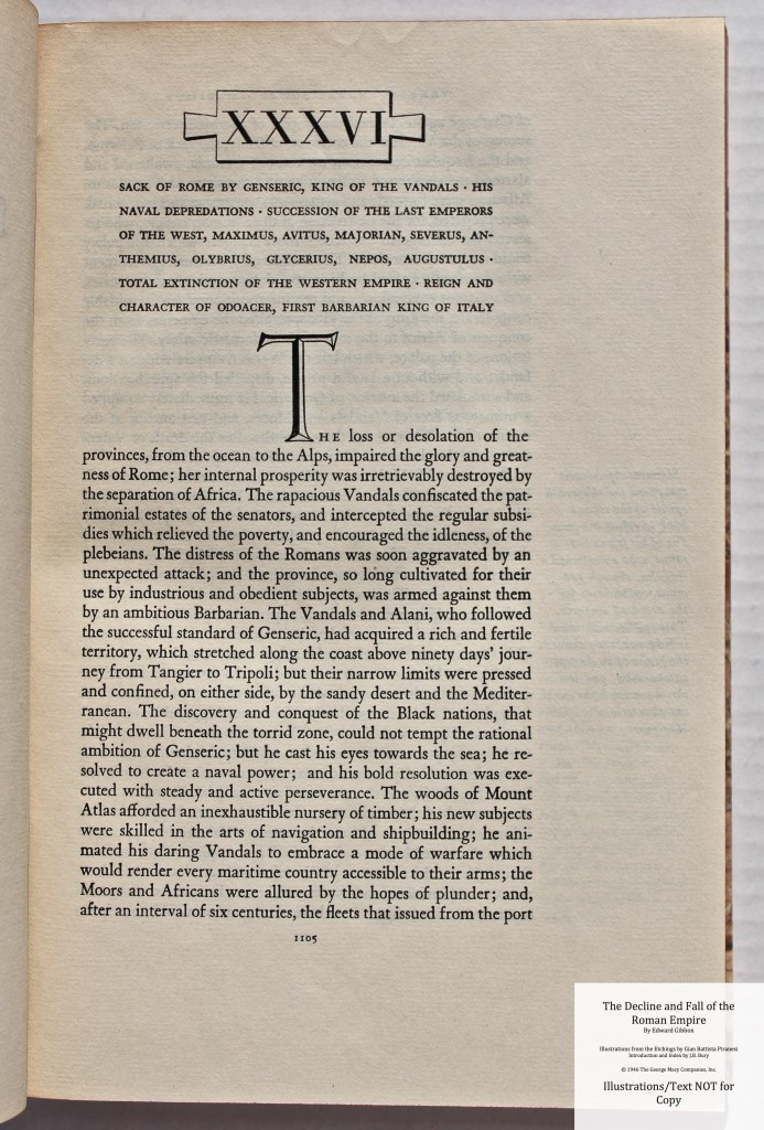 The Decline and Fall of the Roman Empire, Limited Editions Club, Sample Text #8