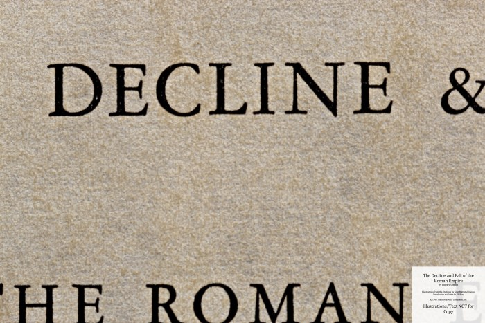 The Decline and Fall of the Roman Empire, Limited Editions Club, Title Page Macro