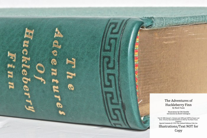 The Adventures of Huckleberry Finn, Limited Editions Club (1933), Side View