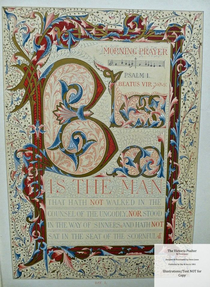 The Victoria Psalter, Day and Son, Sample Page #1
