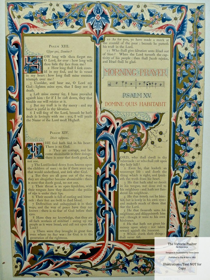 The Victoria Psalter, Day and Son, Sample Page #2