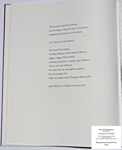 Our Grandmothers, Limited Editions Club, Sample Text #1