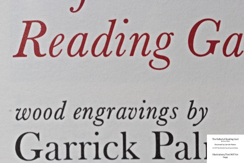 The Ballad of Reading Gaol, The Old Stile Press, Macro of Title Page