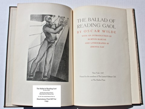 The Ballad of Reading Gaol, The Limited Editions Club, Frontispiece and Title Page