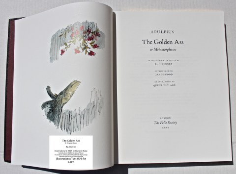 The Golden Ass, The Folio Society, Frontispiece and Title Page