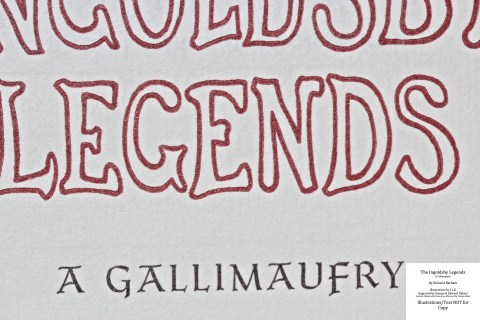 The Ingoldsby Legends, Barbarian Press, Macro of Title Page