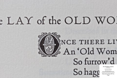 The Ingoldsby Legends, Barbarian Press, Macro of Text