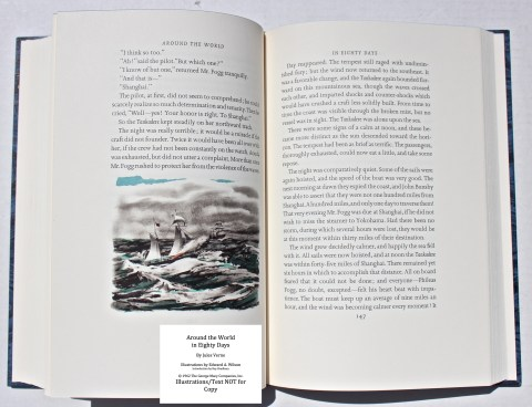 Around the World in Eighty Days, Limited Editions Club, Sample Illustration #4 with Text