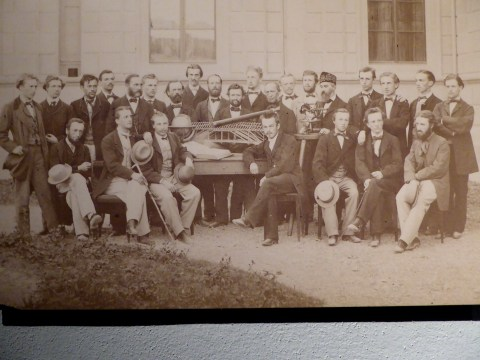 Photo 59: Civil engineering students at the Swiss Polytechnic College (now known as ETH Zurich), 1864. Students came from Russia, Norway, Hungary and Switzerland.