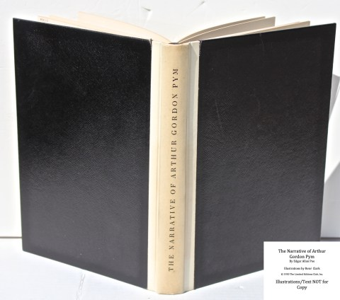 The Narrative of Arthur Gordon Pym, Limited Editions Club, Spine (sunned) and Covers