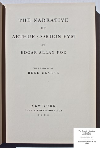 The Narrative of Arthur Gordon Pym, Limited Editions Club, Title Page
