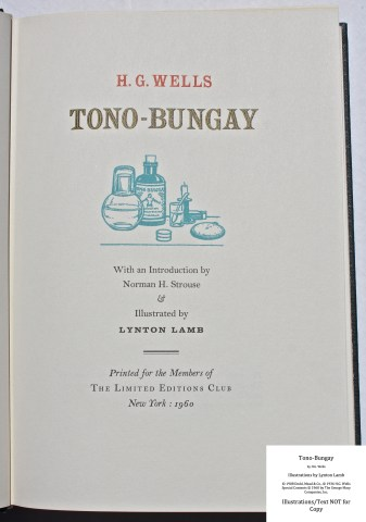 Tono-Bongay, Limited Editions Club, Title Page