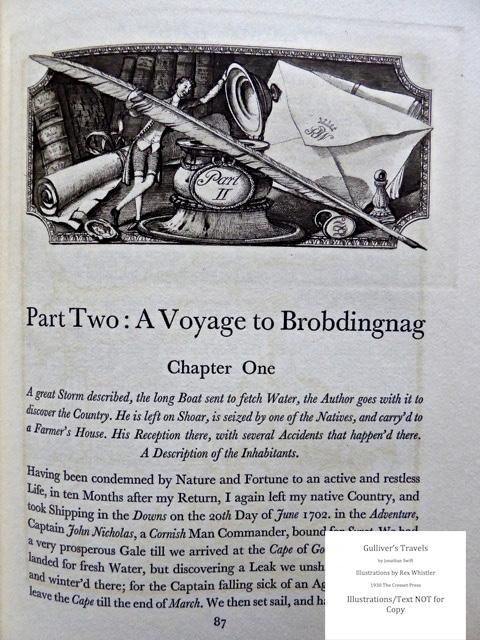 Gulliver's Travels, Cresset Press, Sample Illustration #4 with Text