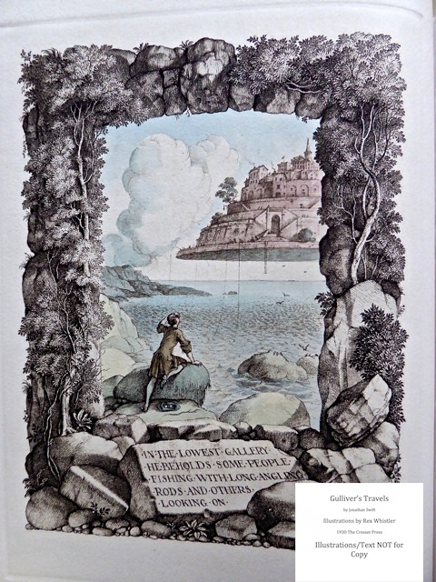 Gulliver's Travels, Cresset Press, Title page illustration of Vol. 2 - verso page