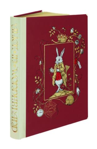 Alice in Wonderland, The Folio Society, Cover and Spine