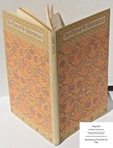 King John, Limited Editions Club, Cover and Spine