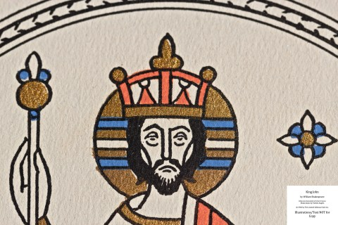 King John, Limited Editions Club, Macro of Frontispiece