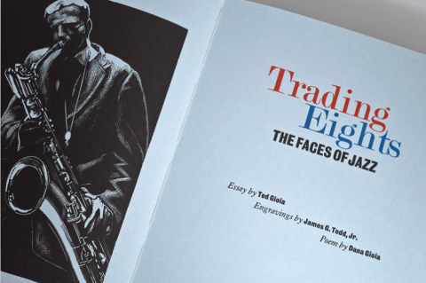 Trading Eights, The Faces of Jazz, Mixolydian Press and Nawakum Press, Frontispiece and Title Page