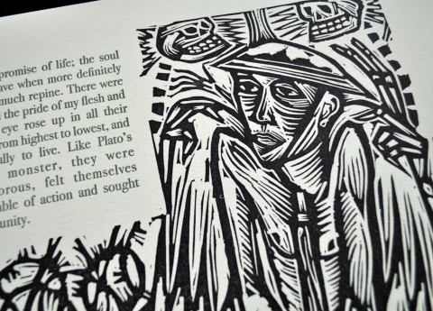 The Diary of a Dead Officer, Old Stile Press, Sample Illustration and Text