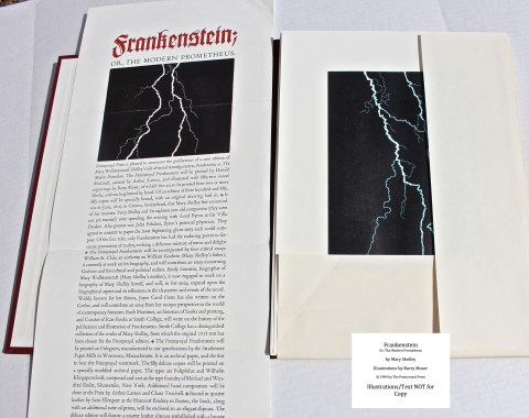 Frankenstein, Pennyroyal Press, Prospectus and Portfolio of Prints