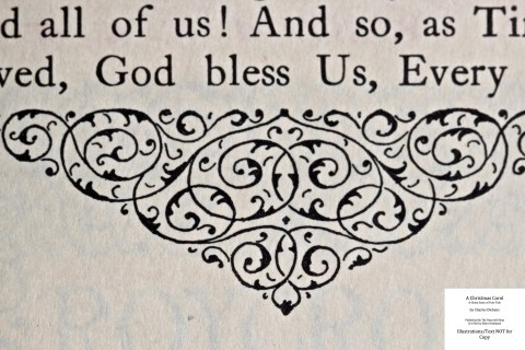 A Christmas Carol, The Roycroft Shop, Macro of Sample Text #9 with Decoration