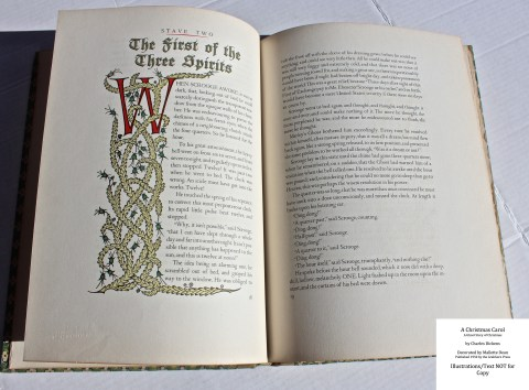 A Christmas Carol, Grabhorn Press, Sample Decoration #3 with Text