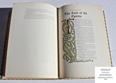 A Christmas Carol, Grabhorn Press, Sample Decoration #4 with Text