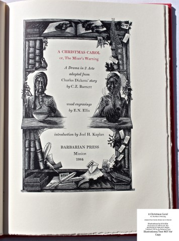 A Christmas Carol, Barbarian Press, Title Page