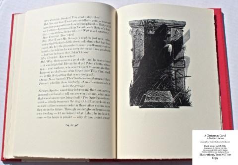 A Christmas Carol, Barbarian Press, Sample Illustration #5 with Text