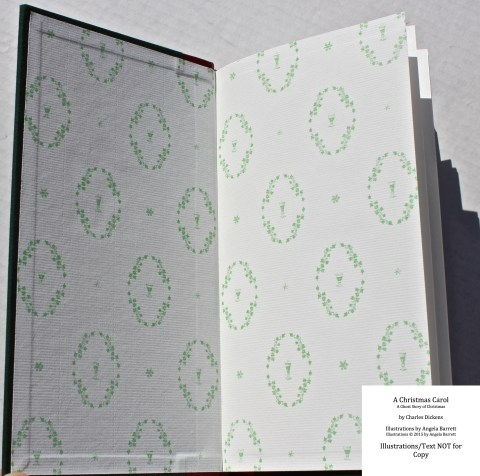 A Christmas Carol, Hand & Eye Editions, Endpapers