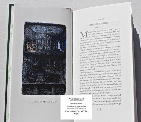 A Christmas Carol, Hand & Eye Editions, Sample Illustration #1 with Text