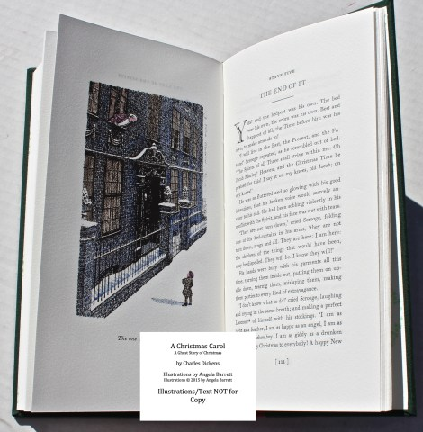A Christmas Carol, Hand & Eye Editions, Sample Illustration #7 with Text