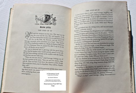 A Christmas Carol, Limited Editions Club, Sample Illustration #8 with Text