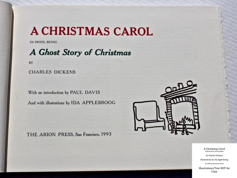 A Christmas Carol, Arion Press, Title Page
