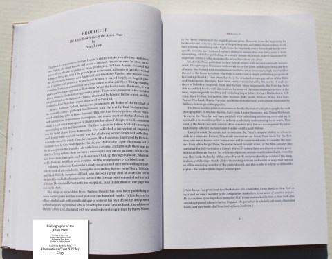 Bibliography of the Arion Press, Arion Press, Sample Text #4 (Prologue)